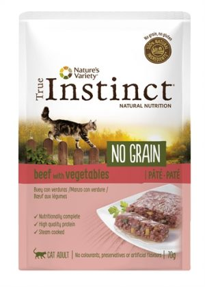 True instinct pouch no grain adult beef pate (70 GR)