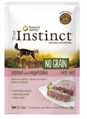 True instinct pouch no grain adult salmon pate (70 GR)