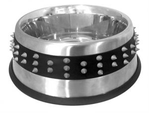 Croci voerbak staal studs rubber (26,5 CM 2,1 LTR)