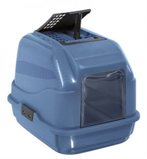 Imac kattenbak easy cat 2nd life blauw (50X40X40 CM)