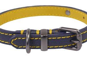 Joules halsband hond leer navy (25,5-35,5X1,5 CM)
