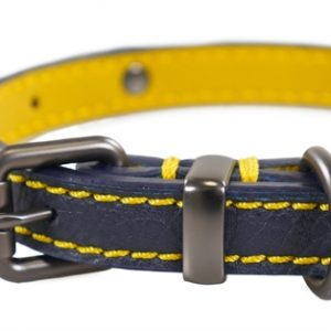 Joules halsband hond leer navy (45,5-56X3,8 CM)