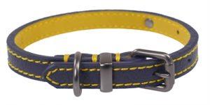 Joules halsband hond leer navy (56-66X3,8 CM)