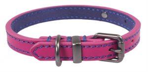 Joules halsband hond leer roze (45,5-56X3,8 CM)