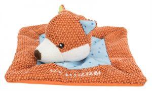 Trixie junior knuffeldoek vos met matatabi (13X13 CM)