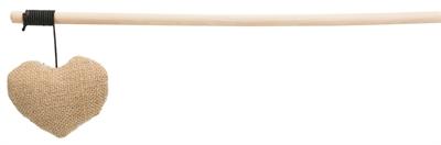 Trixie kattenhengel hart hout / stof assorti (35 CM)