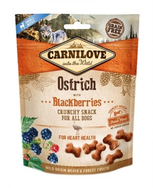 Carnilove crunchy snack struisvogel / zwarte bes (200 GR)