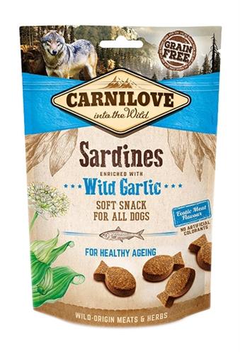 Carnilove soft snack sardines / wilde knoflook (200 GR)