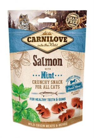 Carnilove crunchy snack zalm / munt (50 GR)