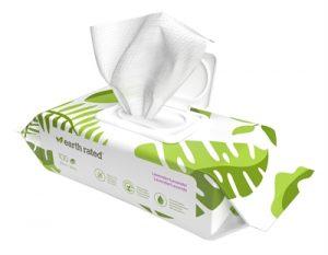 Earth rated dog wipes lavendel composteerbaar (20,5X20,5 CM 100 ST)