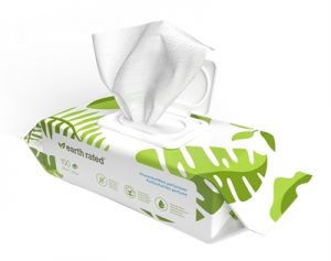 Earth rated dog wipes geurloos composteerbaar (20,5X20,5 CM 100 ST)