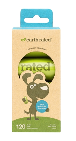 Earth rated poepzakjes geurloos (8X15 ST)