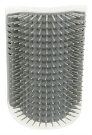 Trixie massageborstel muur hoek grijs (8X13 CM)