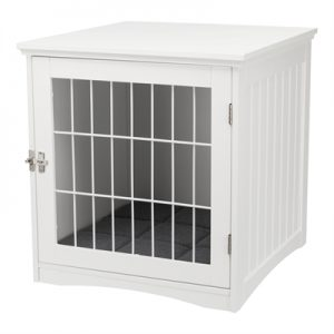 Trixie benche home kennel hond / kat wit (48X51X51 CM)
