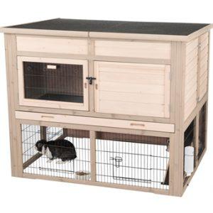 Trixie natura konijnenhok xl met isolatie grijs (120X94X98 CM)