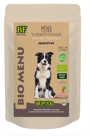 Biofood organic hond kalkoen menu pouch (15X150 GR)