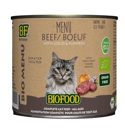 Biofood organic kat rund menu blik (12X200 GR)