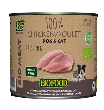 Biofood organic kat 100% kip blik (12X200 GR)