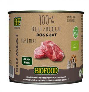 Biofood organic kat 100% rund blik (12X200 GR)