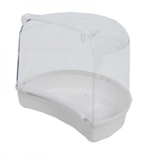 Boon badhuis voor ronde kooien wit (15,5X12X13,5 CM)