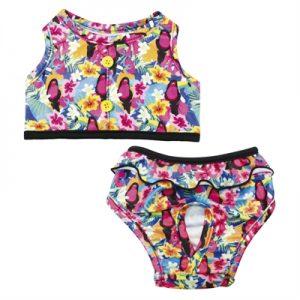 Croci bikini toucan roze (25 CM)
