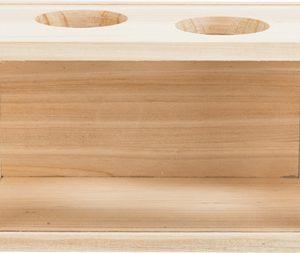 Trixie zandbad voor muizen / hamsters hout (20X12X12 CM)