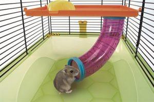 Imac hamsterkooi criceti 9 donkerblauw / geel (45X30,5X29 CM)