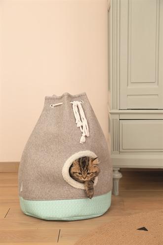 Beeztees kitten kattenhuis flo grijs (40X40X55 CM)