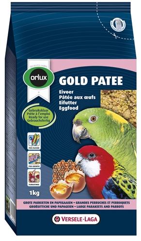Orlux gold patee eivoer grote parkiet/papegaai (1 KG)
