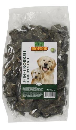 Biofood 3 in 1 hondenmineralenkoekjes (500 GR)