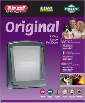 Petsafe hondenluik large zilver/tranparant (777)