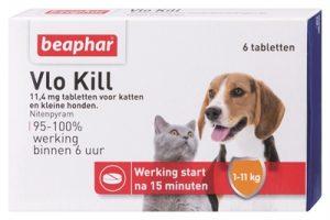 Beaphar vlo kill+ kleine hond/kat tot 11 kg (6 TABLETTEN)