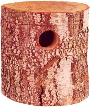 Broedblok berkenhout parkiet (15X17X20 CM)