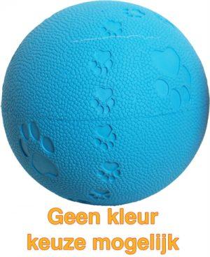 Bal rubber pawprint/geluid (7,5 CM)
