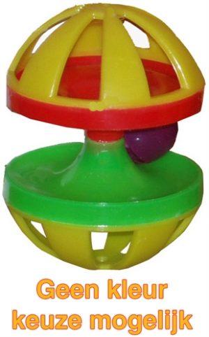 Plastic knaagdierspeelgoed met bel (9X7X7 CM)