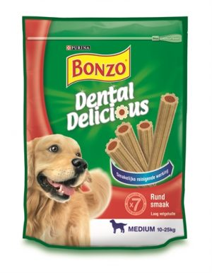 Bonzo dental delicious rund smaak (6X200 GR)