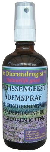 Dierendrogist melissengeest ademspray kitten (100 ML)