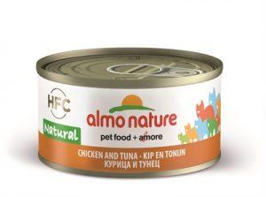 Almo nature cat tonijn/kip (24X70 GR)