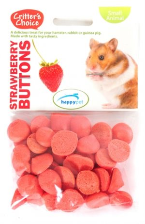 Critter's choice strawberry buttons (40 GR)