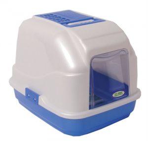Imac kattenbak easy cat blauw / wit (50X40X40 CM)