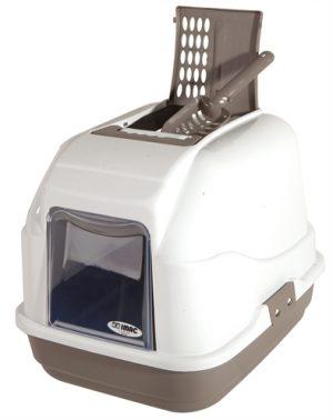 Imac kattenbak easy cat taupe/wit (50X40X40 CM)