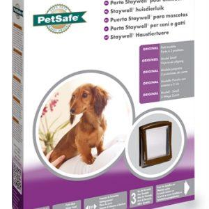 Petsafe kattenluik small bruin/transparant (730)