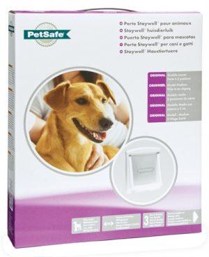 Petsafe hondenluikje medium wit/transparant (740)