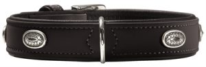 Hunter halsband softie stone art-nubuk zwart zwart onderlegd (36-44X50X2,8 CM)