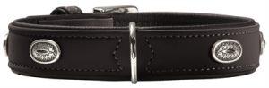 Hunter halsband softie stone art-nubuk zwart zwart onderlegd (51-58X65X3,5 CM)