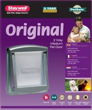 Petsafe hondenluik medium zilver/tranparant (757)