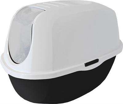 Moderna kattenbak smart cat zwart/graniet (53X39X41 CM)