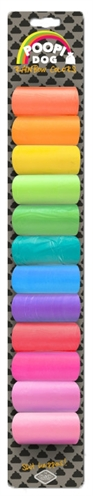 D&d poopi-dog poepzakjes regenboog kleuren (12X15 ST)