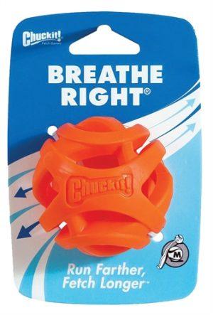 Chuckit breathe right fetch bal oranje (6 CM)