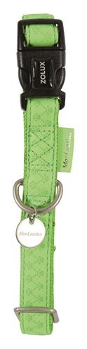 Macleather halsband groen (15 MMX20-40 CM)